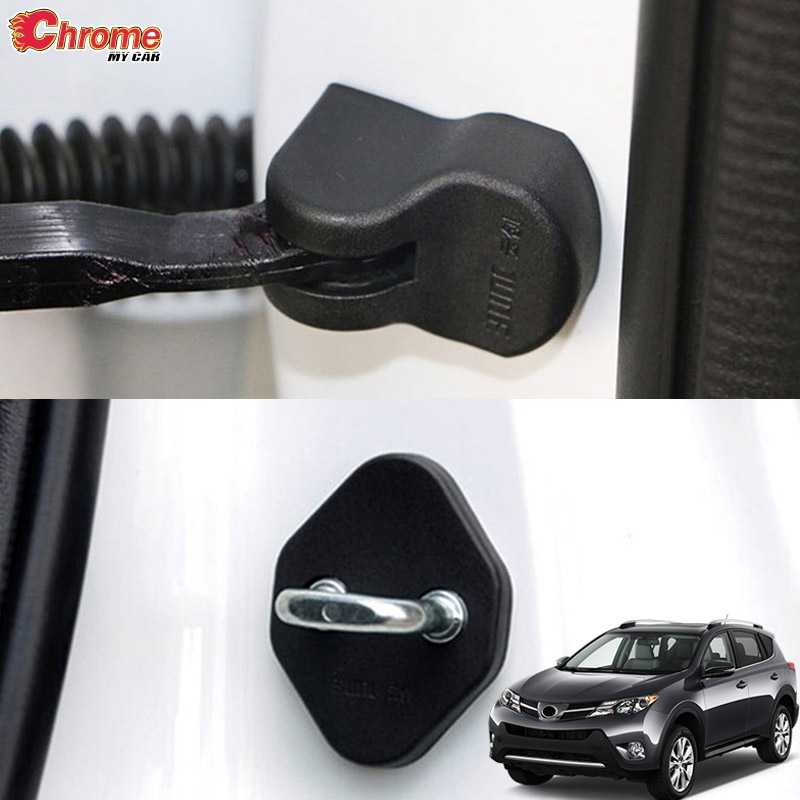 For Toyota RAV4 2013 2014 2015 2016 2017 2018 Door Lock Cover Arm Checker Stopper Buckle Case Guard Decoration Car Accessories