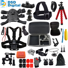 SAQN for Gopro accessories set dog harness mount gopro hero 4 mini bag for Gopro Hero 5 4 3+ 3 For Xiaomi Yi SJCAM M10 M20 11B