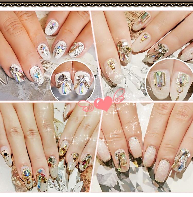 YANRUO 72pcs 6mm # 252560 Crystal AB 3D Plum blossom Nail art - Arte de uñas - foto 4