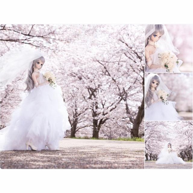 Wedding Dress Evening Dress Doll Accessories 1/3 1/4 BJD Doll Clothes Clothing Princess SD MSD BJD Clothes Toys For Girls 5