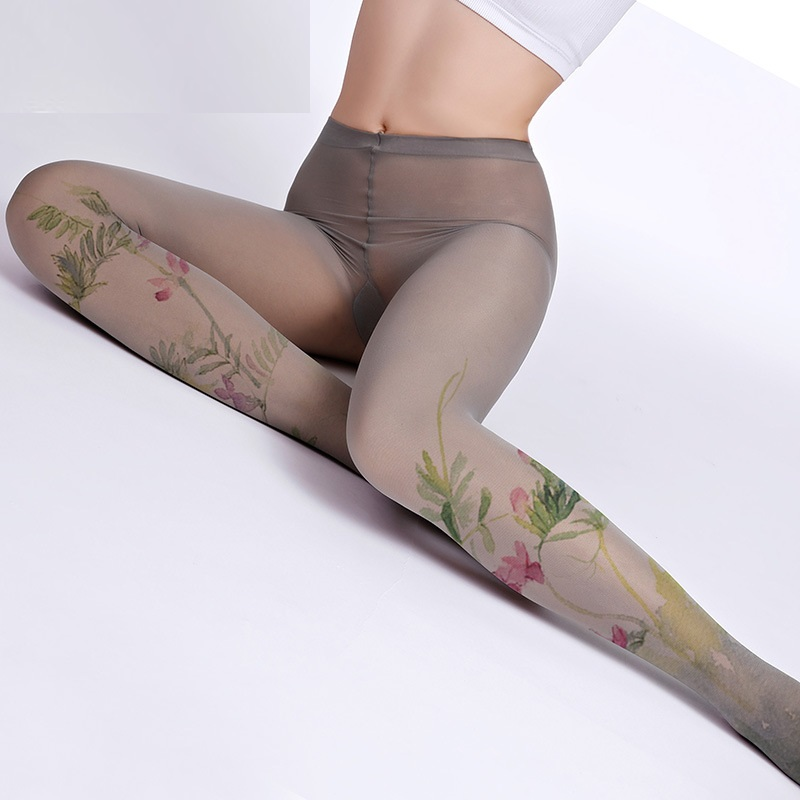 Unique Stockings Japanese Cosply Style Summer Thin Tights Flower High-quality Silk Stockings Shaping Leggin 1order=1pc