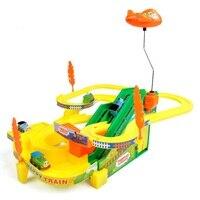 プラスチックきかんしゃトーマストラック車のおもちゃ子供の音楽ライトパズル電動トーマス電車レールトラック車キッズおもちゃw182