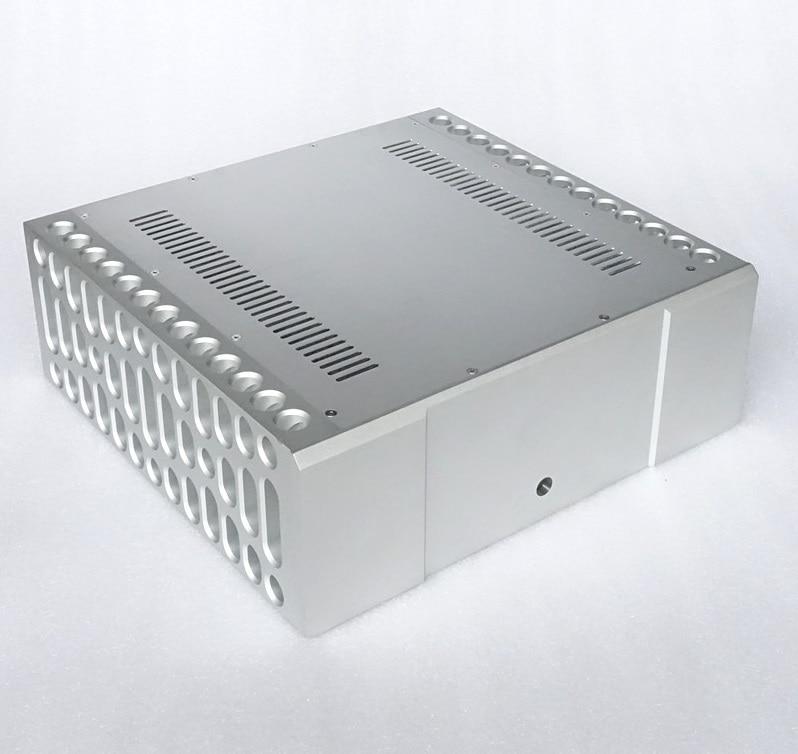 BZ4315M BOLDER CNC All Aluminum Power Amplifier Chassis Audio Amp Enclosure High-end Amplifier Housing DIY Box nobsound hi end audio noise power filter ac line conditioner power purifier universal sockets full aluminum chassis
