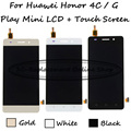 Black/White/Gold For Huawei Honor 4C / G Play Mini CHC-U01 CHC-U03 LCD Display + Touch Screen Digitizer Assembly Replacement