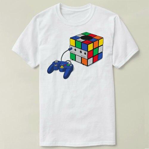 T-shirts Tops & Tees Tireless Game Cube Rubiks Cube Diy Tee T-shirt Mens T-shirt Tops Tees Fitness Hip Hop Men Tshirts Clothing Super Big Size Zl