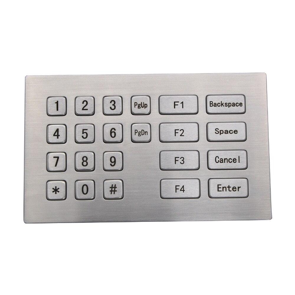 цена на Metal USB Keyboard With 22 Keys Industrial Mini Keyboard Stainless Steel Kiosk Numeric Keypad For Kiosk