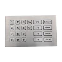 Metal USB Keyboard With 22 Keys Industrial Mini Keyboard Stainless Steel Kiosk Numeric Keypad For Kiosk