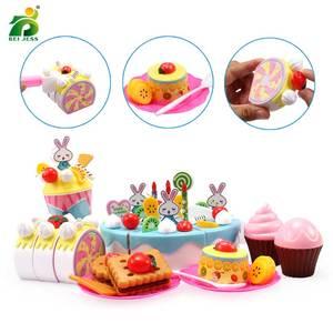 Image 4 - 147個子供のキッチンのおもちゃの少女ケーキ誕生日ミニチュア食品スタンドセットふり再生教育おもちゃ子供のギフト
