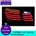 AUTO. PRO 2009-2014 para chevrolet cruze luces traseras led para chevrolet CRUZE luces traseras led car styling GLK modelo posterior del tronco lámpara