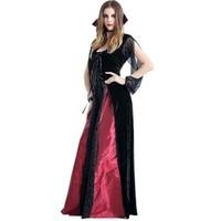 Cosplay Demon Vampires Queen Dresses Female Vampire Countess Dress Women Mesh Elastic Vintage Long Dresses S XL