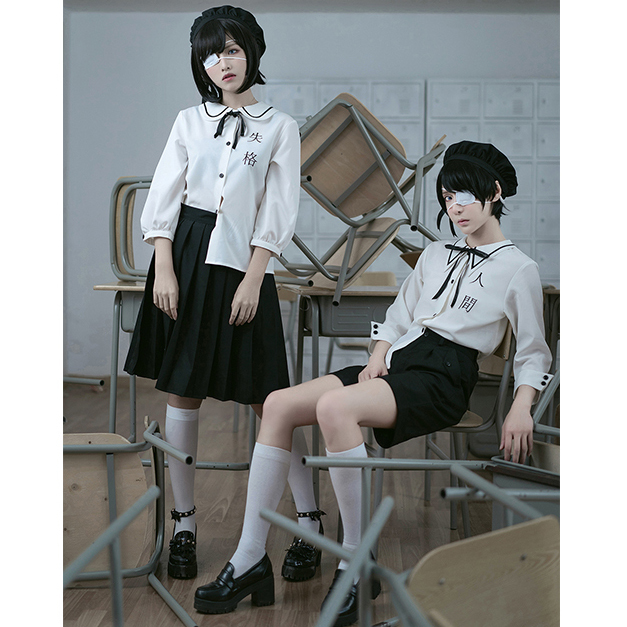 Lolita Original Design Human Disqualification Harajuku Lolita Japanese Gothic Daily Clothes Uniform Series Embroidery Set