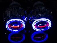 2.8HQ 2.8'' inch Bi xenon Projector Lens Angel Eye 2pcs HID Xenon Ballast H1 H7 H4 H11 HB3 HB4 9007 6000K 4300K Fast Shipping