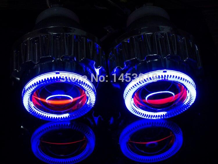 2.8HQ 2.8 ''pouces Bi 2018 Lentille de projecteur D'oeil D'ange 2 pièces Ballast CACHÉ H1 H7 H4 H11 HB3 HB4 9007 6000 K 4300 K Expédition Rapide