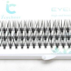 Image 2 - ICYCHEER Pro 8 12mm 0.07/0.10 C Curl Trucco Ciglia Singole di Spessore Naturale Individuale Cluster Ciglia Estensione