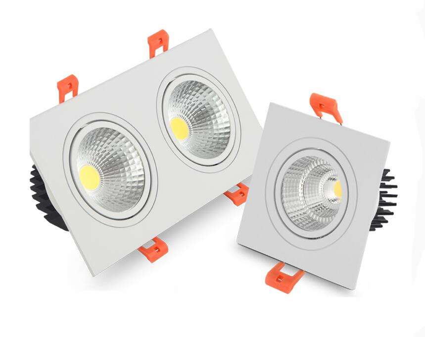 FREE white dimmable led downlight lamp 7W 9w 12w 15w 35w cob led spot 220V / 110V ceiling recessed downlights  led panel lightFREE white dimmable led downlight lamp 7W 9w 12w 15w 35w cob led spot 220V / 110V ceiling recessed downlights  led panel light