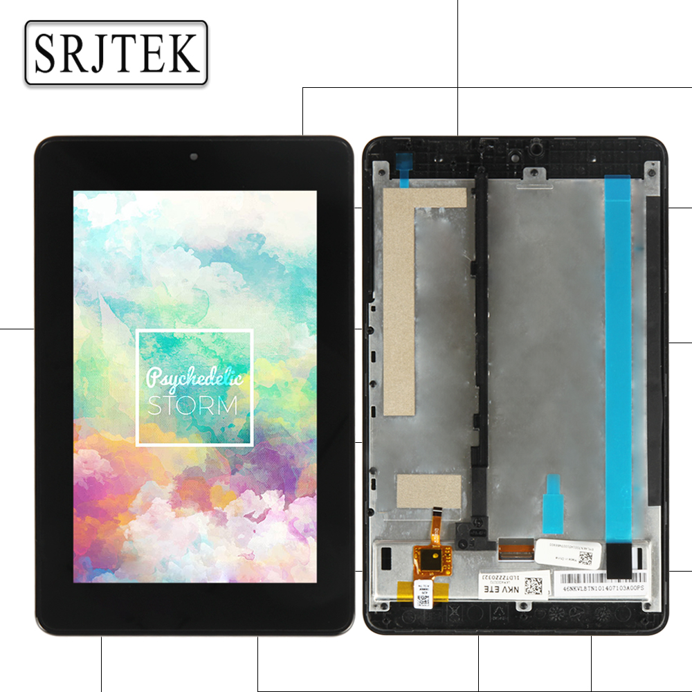 Srjtek Parts For Acer Iconia One 7 B1-730HD B1-730 B1 730HD 730 LCD Display Matrix Touch Screen Digitizer Assembly with Frame for acer iconia one 7 b1 750 b1 750 black white touch screen panel digitizer sensor lcd display panel monitor moudle assembly
