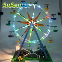 SuSenGo Light Blocks Up Kit For City Street Ferris Wheel Model Building Kits Marvel Model 10247