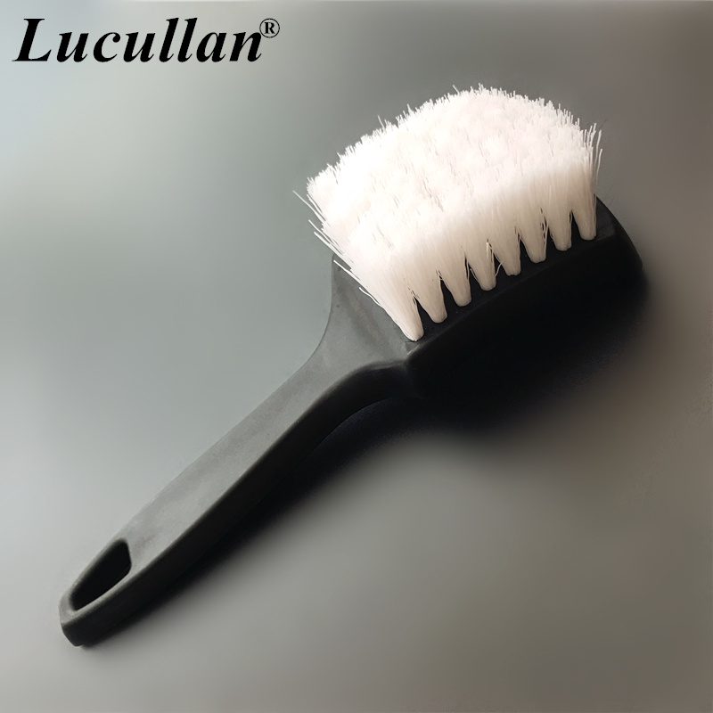 Lucullan Heavy Duty Nifty Interior Carpet/Upholstery Detailing Brush 2 Colors For Tires,Floor Matt,Fabric And Trunk Liner