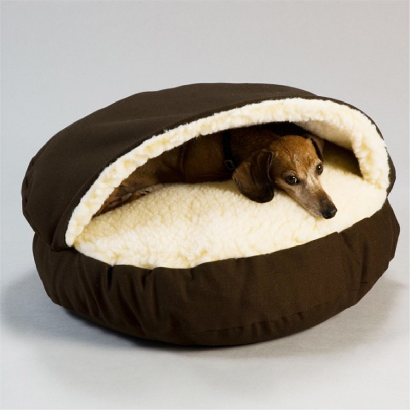 Dog Cave Bed Pet House Mat Soft Kennel Dogs Cats house Waterproof Washable Nest Dog Home Pad Warm Fleece Pet Product Warm Nest