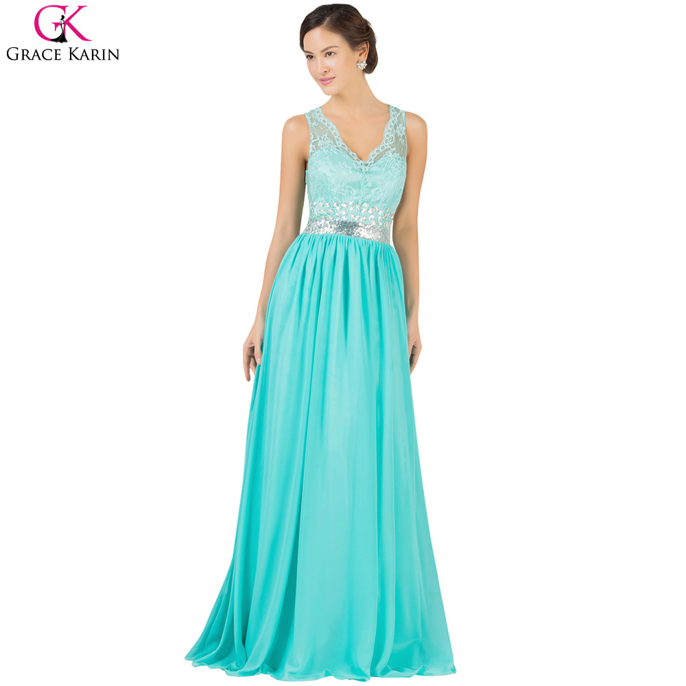 Evening Dress Abendkleider Grace Karin Long Turquoise Dresses ...