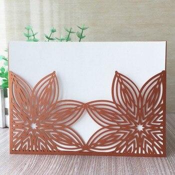 35pcs Laser Cut Flower Pattern Invitation Card Romantic Wedding Invitations Greeting Card Party Supplies