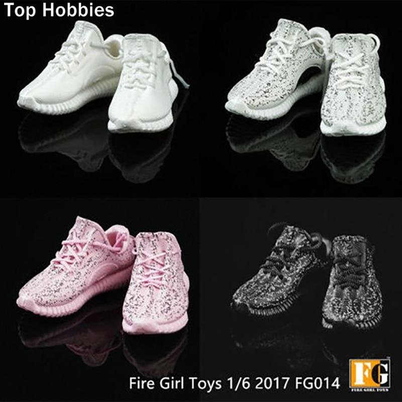 Feu jouets pour fille 1:6 Échelle Accessoire chaussures noix de coco Mâle Hommes Spot Creux chaussures baskets de course Fit 12 Pouces Phicen figurines d'action