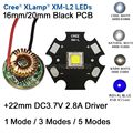 10 Вт Cree XM-L2 T6 XML2 T6 светодио дный свет 20 мм черный PCB белый теплый белый нейтральный белый + 22 мм 5 режимов драйвер для DIY фонарик - фото