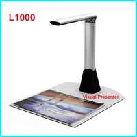 L1000 Mini A3 A4 A5 10 Mega 3672 * 2856 Document Book Photo ID Camera Scanner USB2.0 Interface type 24 bits Visual Presenter