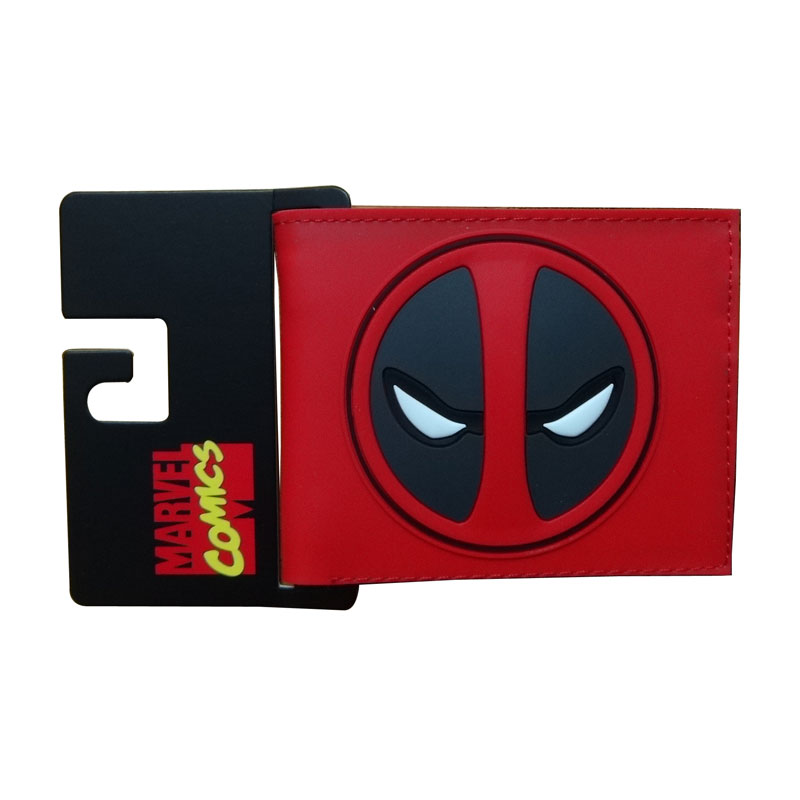 Comics Marvel Deadpool Wallets Anime Hero Dead Pool LOGO Purse Card Holder Bags Creative Gift for Men Fashion PVC Short Wallet hot pvc purse games overwatch wallets for teenager creative gift money bags fashion casual men women short wallet page 1