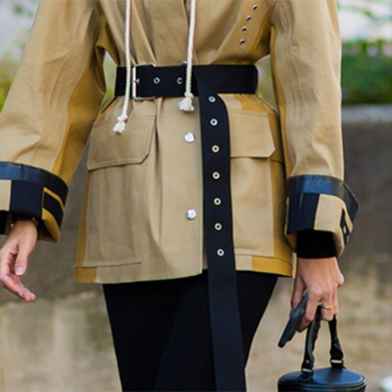 Velvet long belts wild metal square pin buckle clavus hole long shirt dress decorative vintage ladies party belt cummerbunds hot