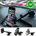 360 Degree Car Phone Holder Windshield Dashboard Mount Retractable Bracket For Mobile Cell Phone Iphone Samsung Gps Car Styling