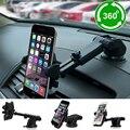 Suporte do telefone do carro de 360 graus brisa do dashboard mount suporte retrátil para celular mobile phone iphone samsung gps do carro styling