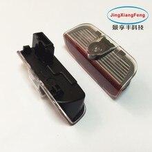 JingXiangFeng 2 pz LED Dell'ombra del Fantasma della Luce di Cortesia di Benvenuto del Portello di Automobile lampada del proiettore con la cassa logo per skoda Superb 2009-2014