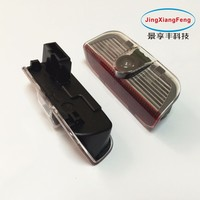 2 Pcs LED Ghost Shadow Courtesy Welcome Light Car Door Projector Lamp With Logo Case For
