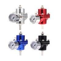 Universal Adjustable Aluminum alloy Fuel Pressure Regulator 0-140 Gauge PSI FPR fuel Gas Hose Kit