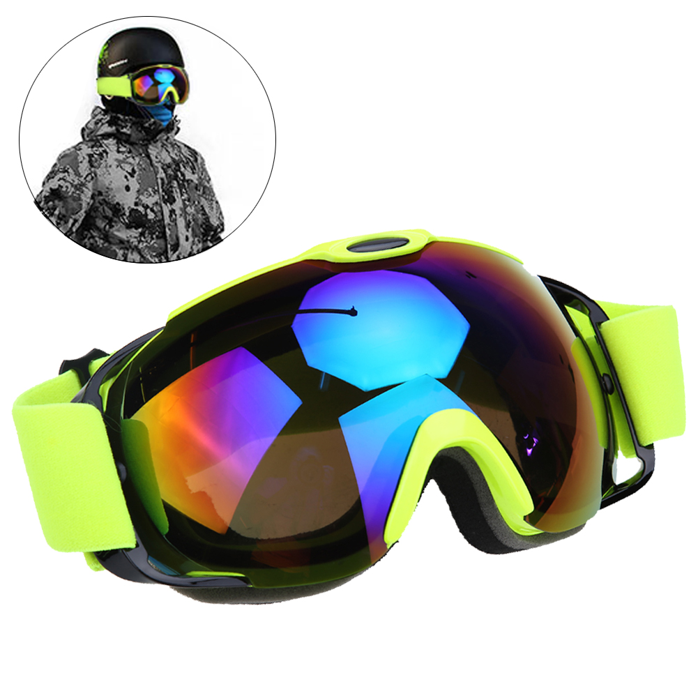 Unisex Double Lens Ski Goggles UV400 Anti-fog Spherical Anti-wind Ski Snowboard Snow Skating Skiing Big Mask Glasses BHU2