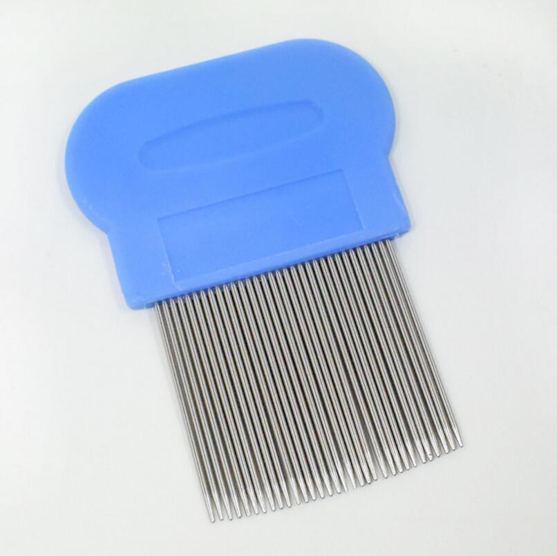 Wholesale High Quality Lice Comb Pets Hair Rid Head lice stainless steel Metal Teeth Net Flea comb