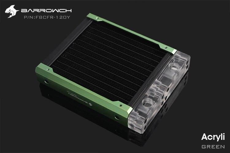 Barrowch FBCFR-120, caméléon poisson modulaire 120mm radiateur, acrylique/POM radiateur amovible, adapté pour les ventilateurs 120mm