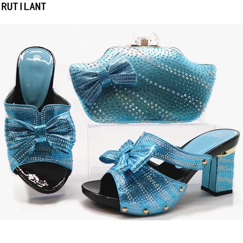 Chaussures Italiennes Bleu Africaine Ensembles Femmes Couleur Assorties Sac red Ensemble Et or fuchsia Dans Italien Pour Sacs Africain 2018 green Bleu rEEqzw65x