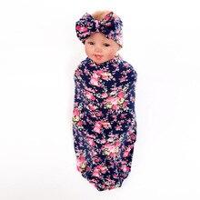 Горячее платье новорожденного младенца Swaddle повязка Mermaid Tail одеяло 0-3months младенец постельное белье цветочное узору хлопок синяя детская одежда