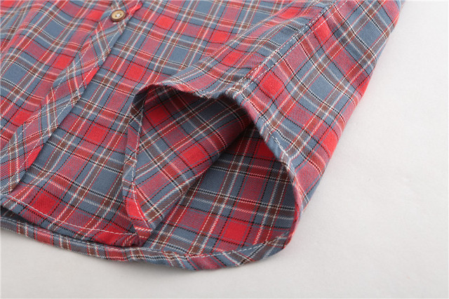 Dioufond Men Vintage Red Plaid Short Shirts Casual Cotton Basic Male Tops Pocket Work Wear Summer Mens Fashion Clothing 2018 3XL 5