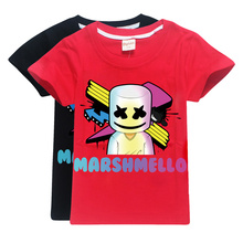 100% cotton Marshmello kids t shirt for boy girls clothes bobo choses 2019 Summer tops Dj Music Children Fashion child T-shirts