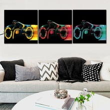 Canvas HD Printed Modern Wall Art Pictures Home Decor Framework 1Pcs/3Pcs  Movie TRON Legacy Car Painting Motorcycle Poster