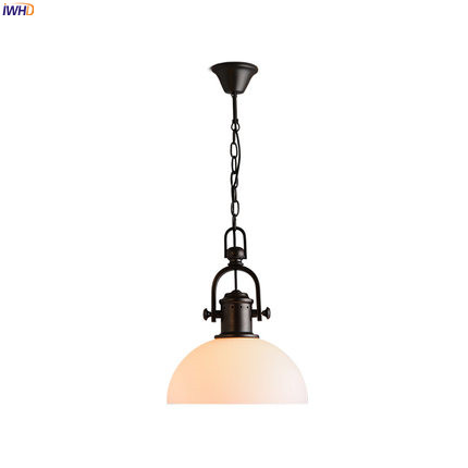 IWHD American Country LED Pendant Lights Fixtures Restaruant Living Room Glass LED Edison Vintage Lamp Home Lighting Luminaire iwhd glass led pendant lights modern brief wood hanging lamp edison bulb light fixtures suspension luminaire home lighting