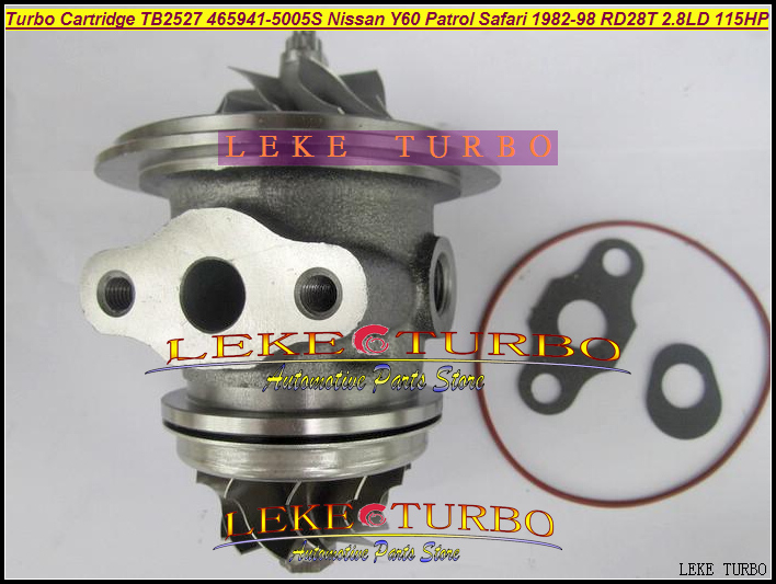 Turbo Cartridge CHRA TB2527 465941-5005S 465941 452022-0001 Turbocharger For NISSAN Y60 Patrol Safari 1982-98 RD28T 2.8L D 115HP turbo cartridge chra core gt1752s 733952 733952 5001s 733952 0001 28200 4a101 28201 4a101 for kia sorento d4cb 2 5l crdi