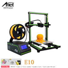 Anet E10 Auto 3D Printer High Accuracy DIY Semi Assembly Desktop 3d printer Kits DIY Large Printing Size Free 10m /1kg Filament wanhao d5s mini desktop 3d printer with high performance and accuracy industrial level with printing size 290 190 190mm