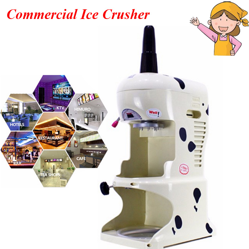 Commercial Ice Crusher 220V Ice Crushing Machine Sand Ice Machine Ice Shavers ice crusher snow ice shaving machine easy operation high quality home use summer ice food making machine ice crushing machine zf