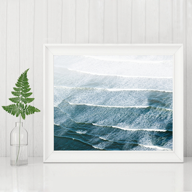 beach photography wall art sea waves canvas painting beach canvas