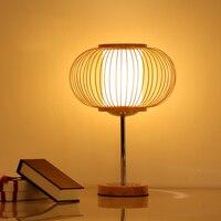 Китайский бамбуковый серии настольные лампы ночники освещение лампы спальни сад гостиная украшения стола za81021