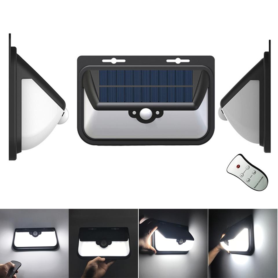 Outdoor remote control Solar Motion Sensor 68 LEDs wall ...